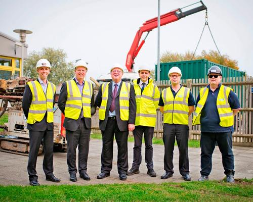 (L-R): Tom Fairey of Alliance Leisure Services, Martin Guyton and Alan Nicholl of tmactive, Stuart Edwards of Tonbridge and Malling council, Mike Stevens of tmactive and contractor Phil Pounder