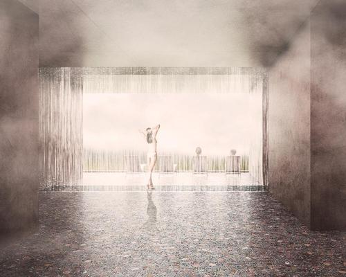 A curtain of rain will feature in one of the spa experiences / Johannes Torpe Studio