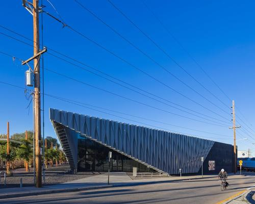 The studio's design for SITE is anchored in the distinctive material qualities of the surrounding railyard / Jeff Goldberg/ESTO