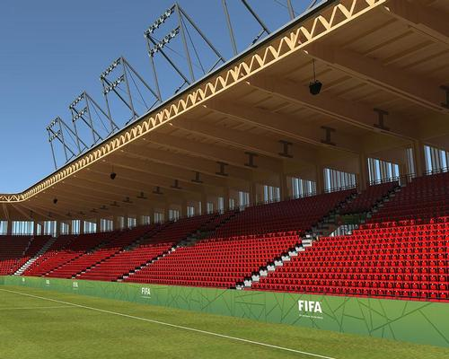 The stadium will be constructed using timber / Bear Stadiums