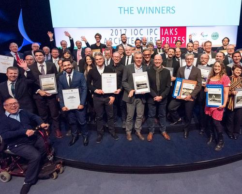The winners of the IOC/IPC/IAKS Architecture Prizes were celebrated at a ceremony in Cologne