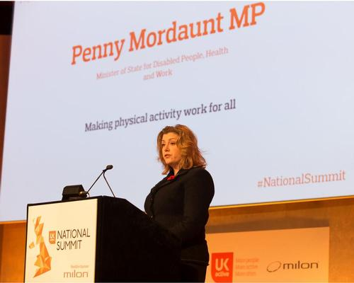 MP Penny Mordaunt speaking at the ukactive National Summit in Westminster