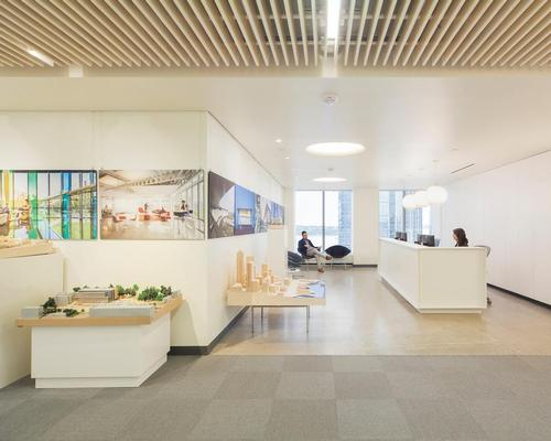 The design of the firm's Seattle office is inspired by their in-house healthy materials initiative research / Perkins+Will