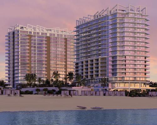 Two towers – named Peace and Happiness – will house 150 hotel guest rooms, 359 residences, and a four-storey spa designed in collaboration with ESPA