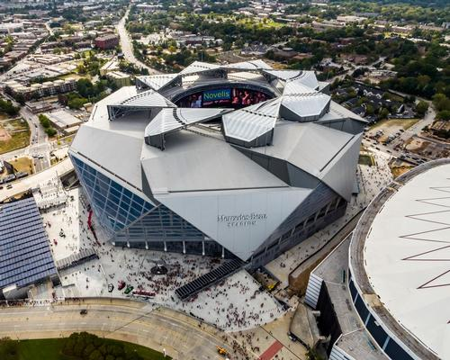 The Mercedes-Benz Stadium opened in August and becomes the first sports stadium in the world to receive LEED Platinum Certification / HOK