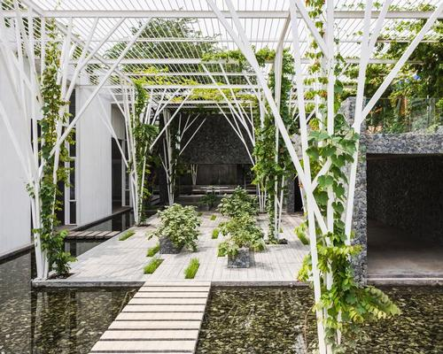 Vietnamese practice Cong Sinh Architects won the Hotel & Leisure category for Vegetable Trellis in Ho Chi Minh City / World Architecture Festival