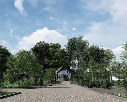 Designed by Peterborough, UK-based Harris McCormack Architects, the stand-alone spa will include nine treatment rooms / Gisborough Hall