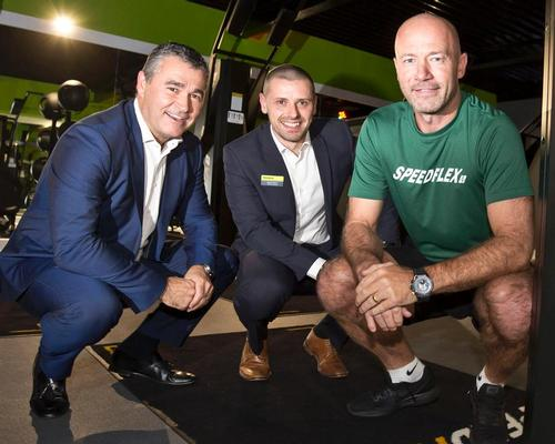 Left to right: Bannatyne Group chief executive Justin Musgrove, Bannatyne Mansfield general manager Martin Atkins, and Speedflex director Alan Shearer, at the opening of the latest studio / Bannatyne Group