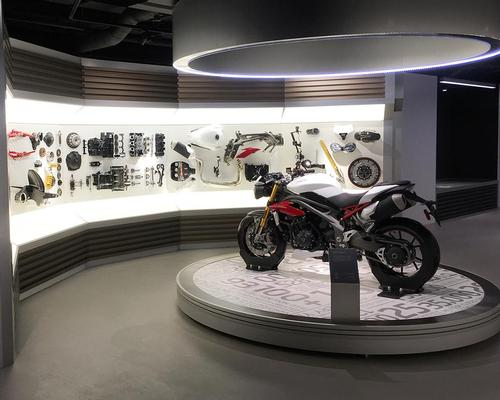 Triumph Motorcycles visitor experience at the Hinckley Factory near Leicester