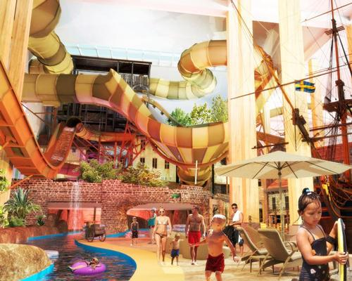 The waterpark, being developed by Water Technology Inc, will operate year round with capacity for 2,800 guests over 17,000sq m / Liseberg