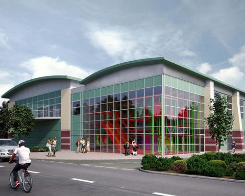 The design for Monmouth Leisure Centre, which is due to open next year