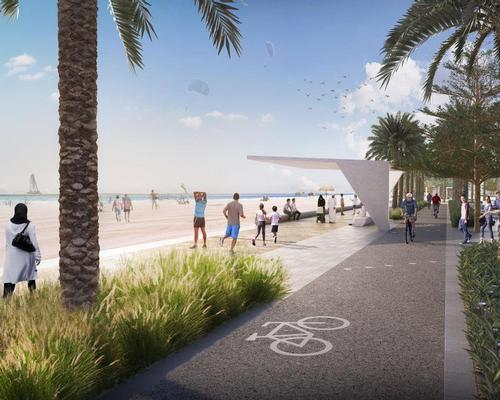The 3.3km-long development will include dedicated cycling paths, exercise areas and places for family activities / SUPC