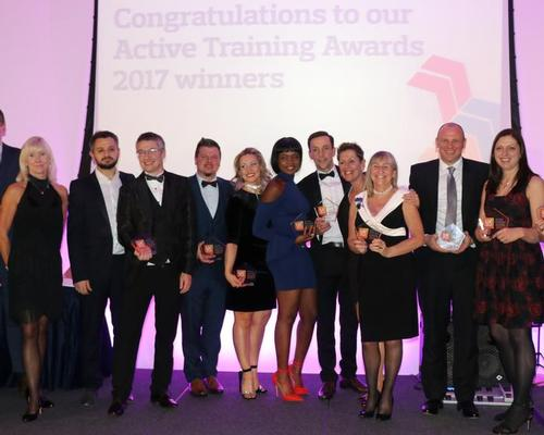 The winners of the Active Training Awards celebrate last night