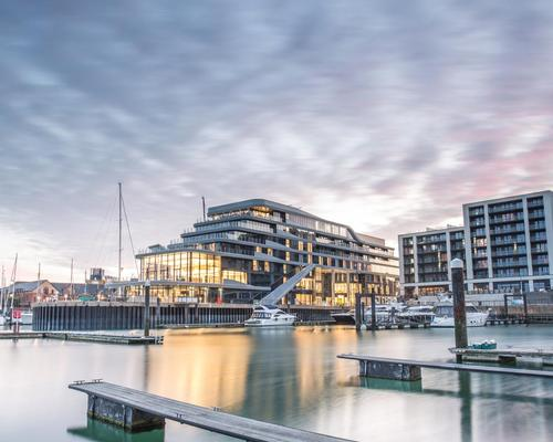 Double take? Spa hotel shaped as cruise ship opens in Southampton marina