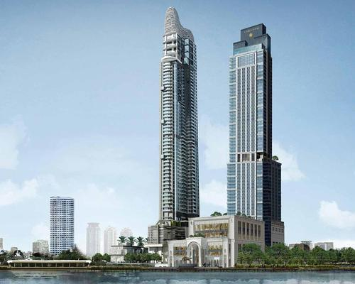 Designed by P & T Architecture, the hotel will have its own pier / Langham Hospitality Group