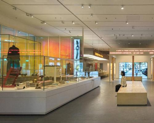 The V&A Gallery opens with the site-specific exhibition, 'Values of Design', designed by Sam Jacob Studio, featuring over 250 objects / Design Society