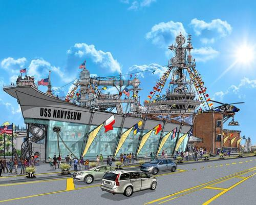 The interactive, two-storey attraction will comprise a series of interconnected themed experience zones / Navyseum
