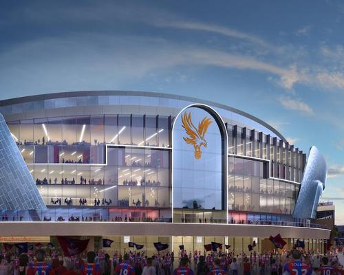 The centrepiece will be a new five-storey stand featuring an all-glass front / Crystal Palace