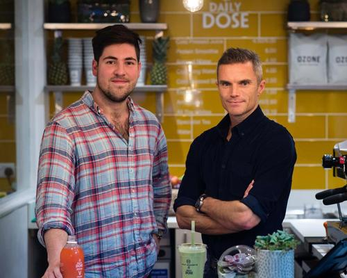 Daily Dose founder George Hughes-Davies (left) with personal trainer Matt Roberts / Amy Murrell