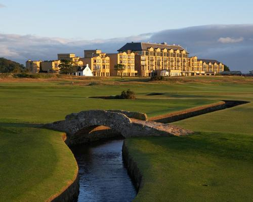 The Old Course Hotel borders the renowned 17th Road Hole of the Old Course and features a 25,000sq ft Kohler Waters Spa