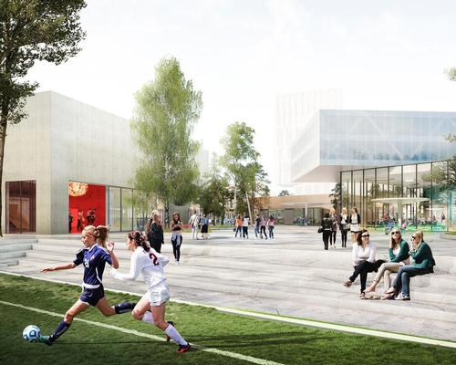 The sprawling Gellerup Sports and Culture Campus will encourage activity, community growth and tourism / Schmidt Hammer Lassen