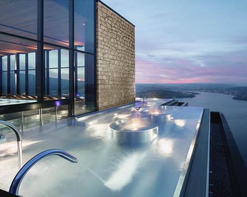 The spa at Burgenstock Resort Lake Lucerne