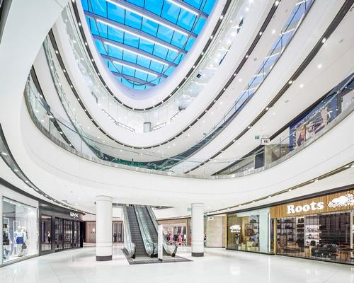 The Cadillac Fairview Rideau Centre in Ottawa, designed by B+H Architects in collaboration with BBB Architects  / B+H Architects