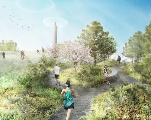 Landscape architects SLA are working with Bjarke Ingels Group to realise the nature-filled project / SLA