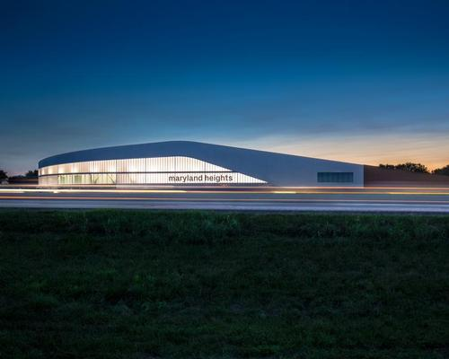The architects were tasked with mediating the harsh environment of the adjacent interstate highway 