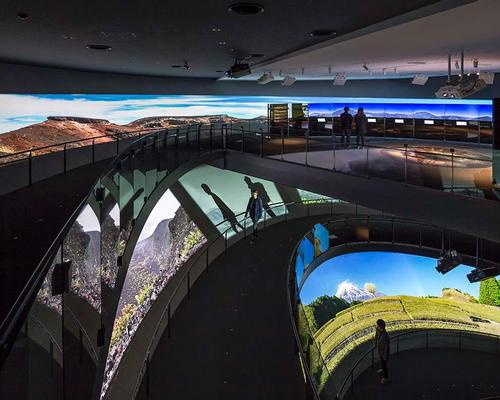 Visitors can ascend the building via a 193m (633ft) spiral slope that simulates a climb up the volcano – Japan's highest peak / Shigeru Ban Architects