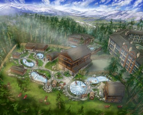 The indoor/outdoor spa will feature hot and cold contrast hydrotherapy, along with social campfire settings, a meditation labyrinth and a relaxation lodge