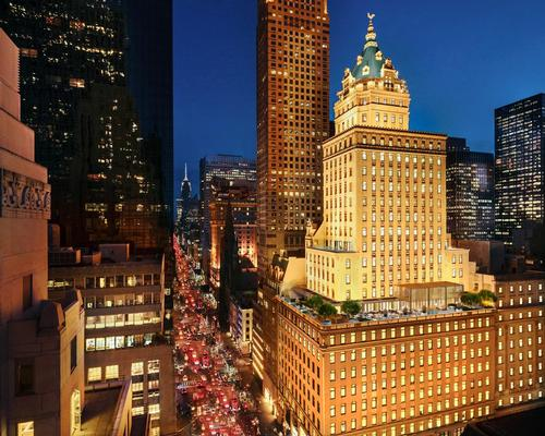 The Crown Building, overlooking Central Park, was built at 730 Fifth Avenue in Manhattan in 1921