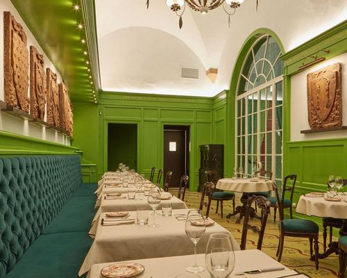 The space features a restaurant run by three-Michelin-star chef Massimo Bottura / Gucci