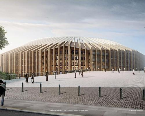 Designs show a wide concourse to allow for up to 60,000 fans at a match / Herzog & de Meuron
