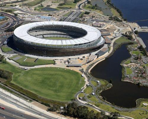 Located east of the Perth Central Business District, the stadium is the focal point of a new public Sports Precinct that stretches to the Swan River / Optus Stadium