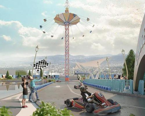 Covering 27,000sq m (290,000sq ft), theme park attractions will be split into three areas