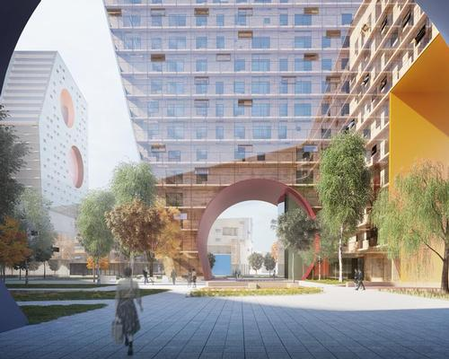 Parachute openings have inspired the 'new type of building typology' used in the scheme / Steven Holl Architects