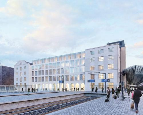 Exilion Management and Scandic Hotels are seeking ideas for how to breathe new life into the underutilised eastern administrative wing of the station / Futudesign