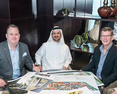 Members of ACTVENTURE's advisory board, including Talal Najibi, executive chair of Najibi Investments, WhiteWater's Geoff and Paul Chutter, and Bradley Sutherland, CEO of ACTVENTURE / Hotel and Rest