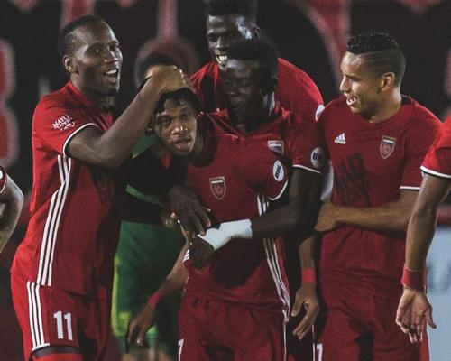 Phoenix Rising FC, co-owned by Didier Drogba (second from left), hopes its new stadium will help it win a place in the MLS / Phoenix Rising FC