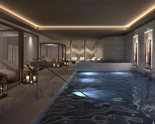 The spa includes 25 treatment rooms and an extensive hydrotherapy / Le Blanc