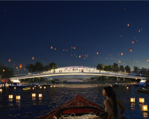 MVRDV have won a competition for the Dawn Bridge project, which will connect the old town of Zhujiajiao / MVRDV