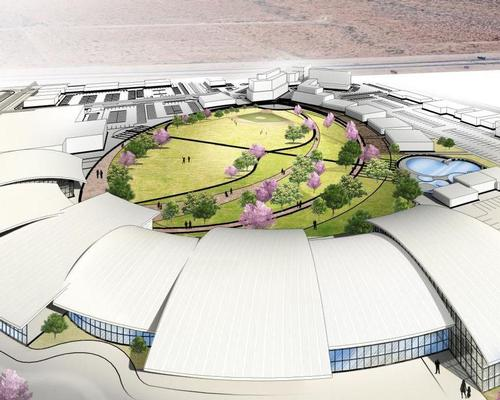 The reimagined Cohen Stadium could feature a landscaped urban plaza