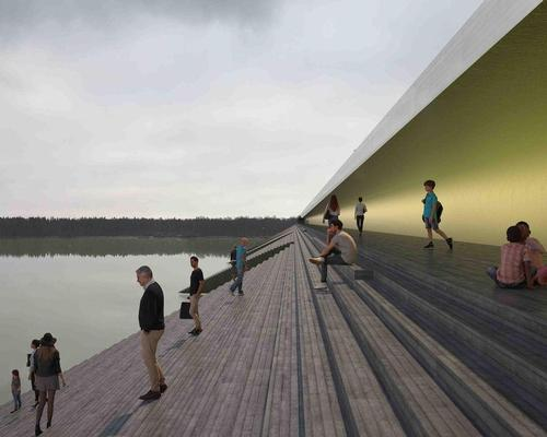 Erik Andersson Architects reveal plans for public bridge/amphitheatre hybrid