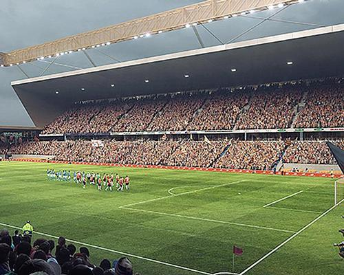 The flexible-designed stadium –created by AndArchitects –could hold up to 23,000 fans / Luton Town FC