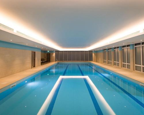 The renovation has seen the addition of a new 20m lap pool as part of the large health and fitness centre / Kohler Waters Spa