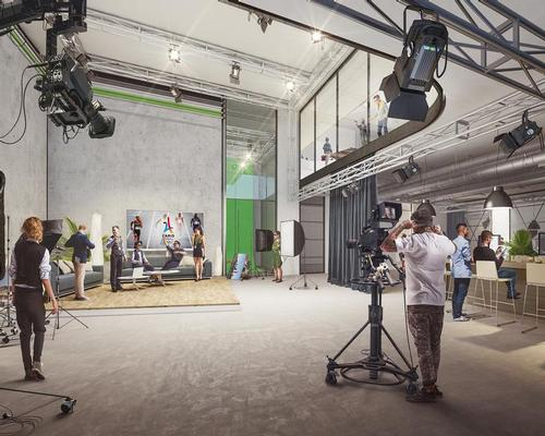Film training and production studios will be located in the lower level of the building / Flying Architecture