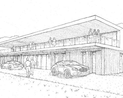 A car showroom is also included in the plans
