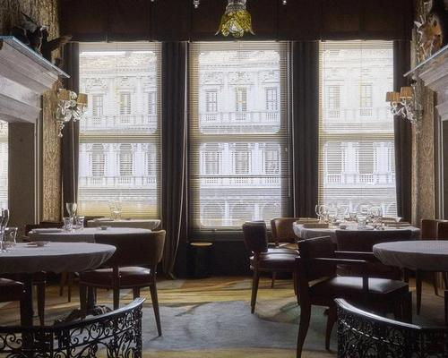 The Michelin-starred Quadri, owned by restaurateurs the Alajmo family since 2010, has been reinterpreted by the French designer as 'a Venetian wonderland of mystery, poetry and magic' / Starck Network