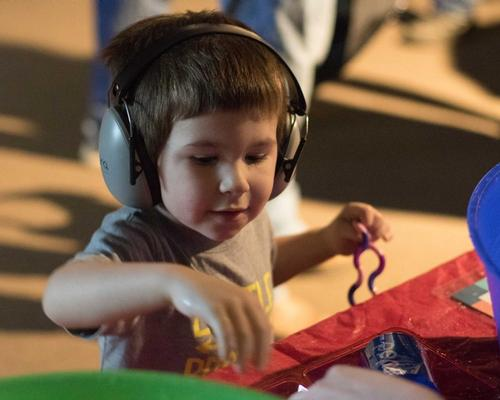 Headphone and quiet spaces have been created within the attraction